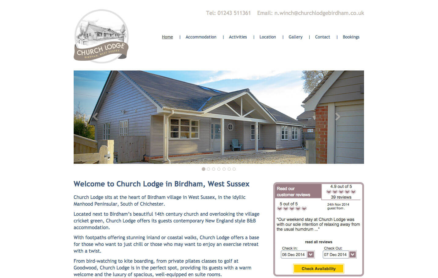 Church Lodge - Home page
