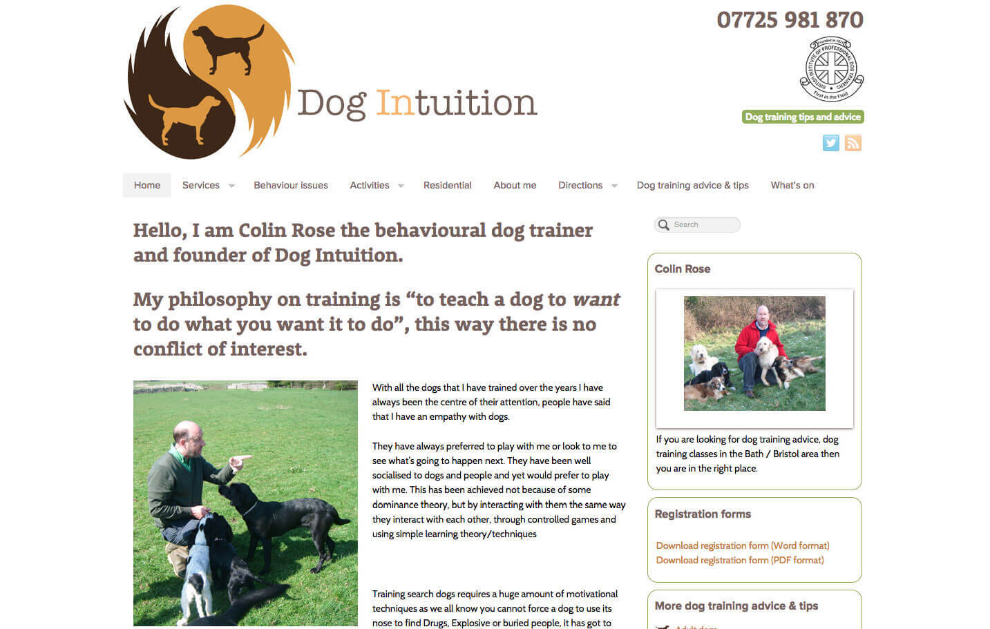 Dog Intuition - Home page