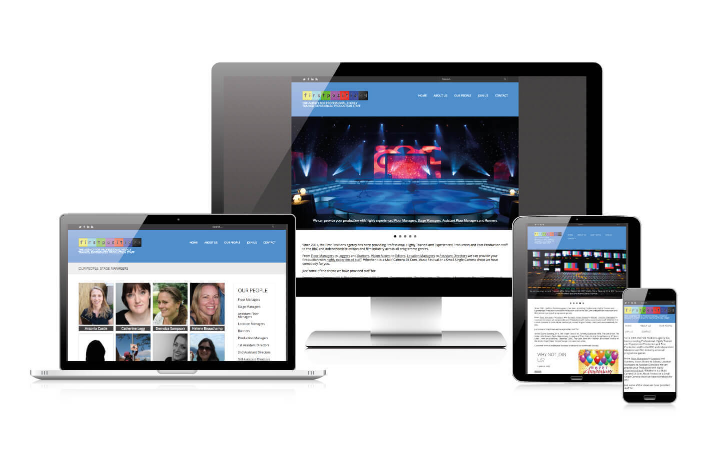 Responsive web design - First Positions
