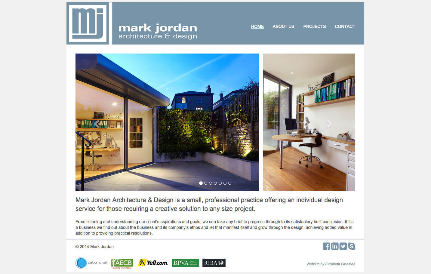Architect website design wordpress theme for Architectural websites