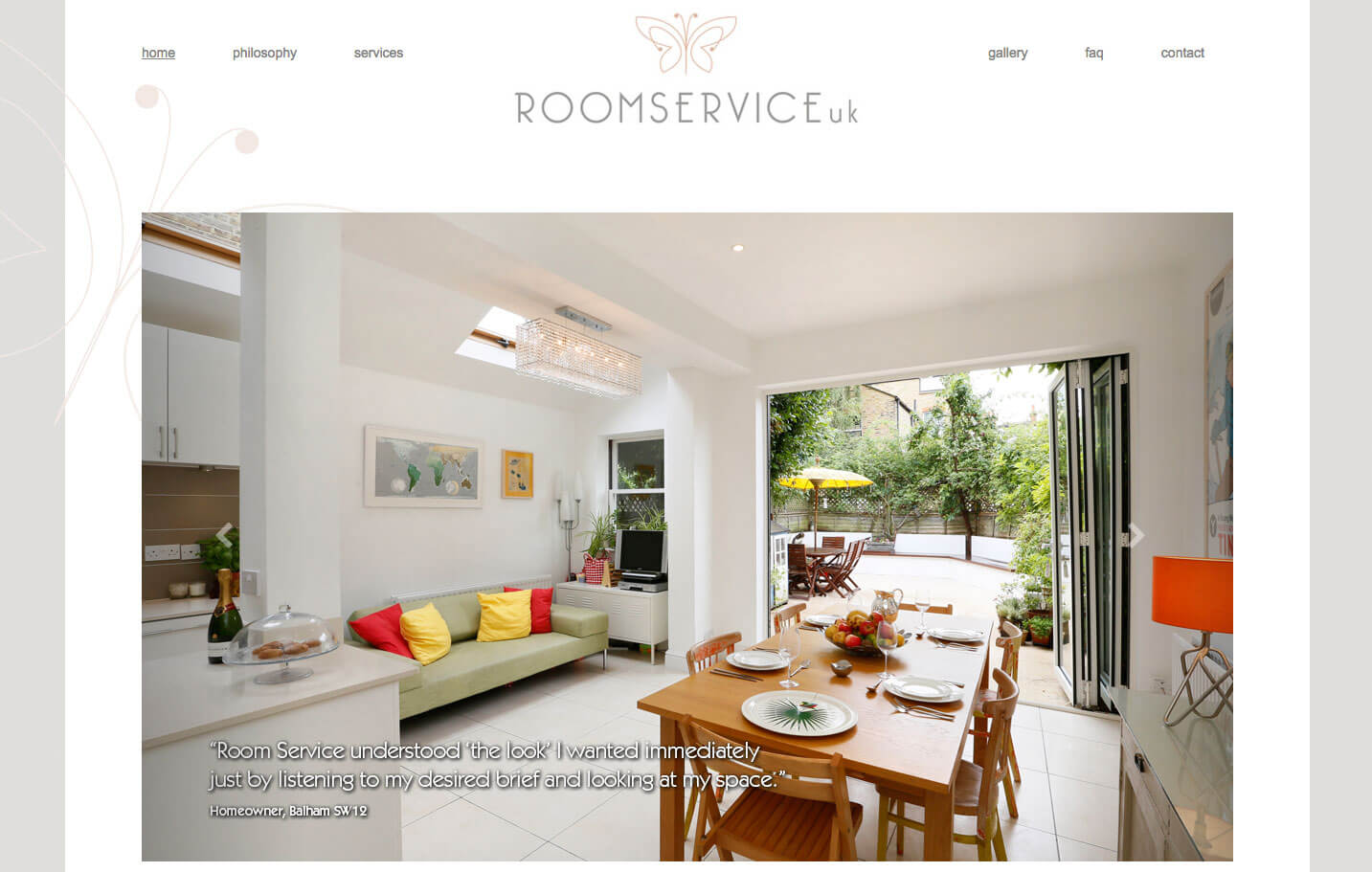 Room Service - Home page