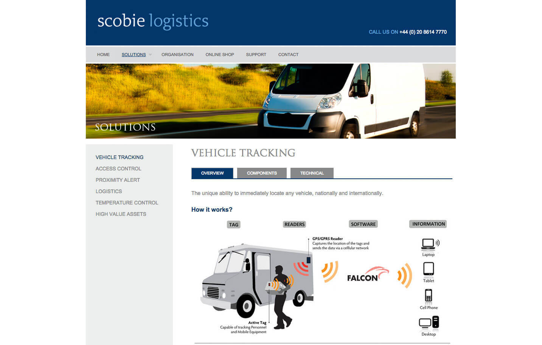 Scobie Logistics - Solutions page