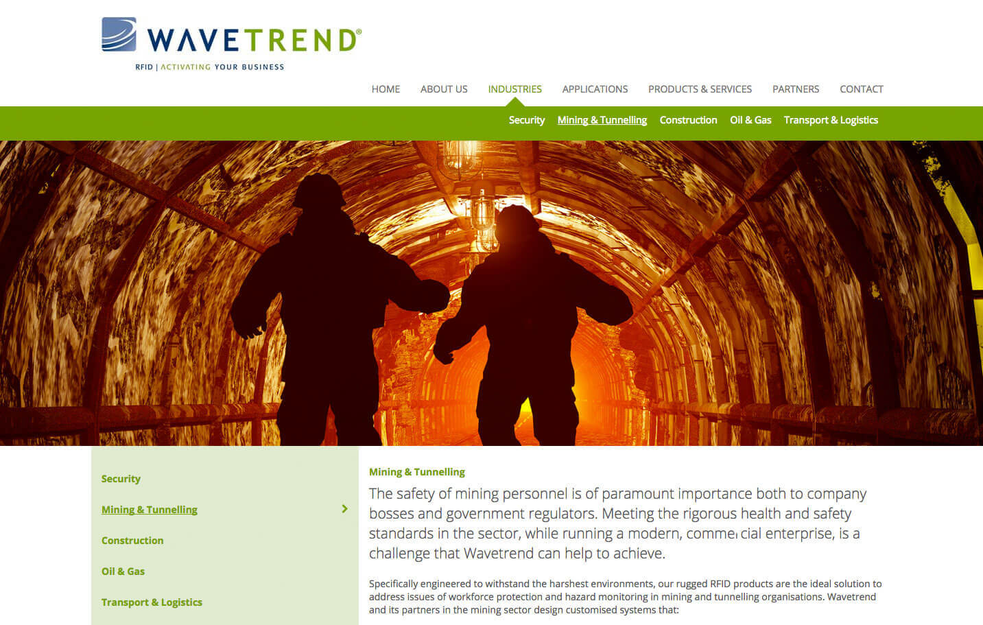 Wavetrend - Tunnelling page