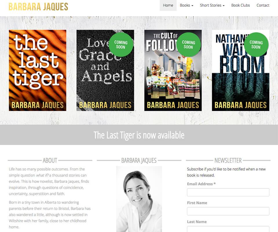 Web design portfolio - Barbara Jaques