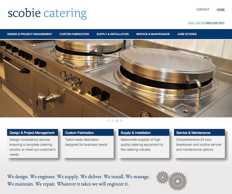 Web design portfolio - Scobie Catering