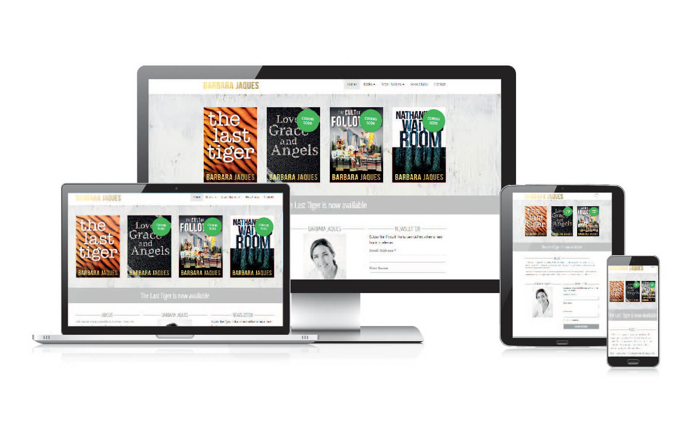 Wordpress website for the author Barbara Jaques
