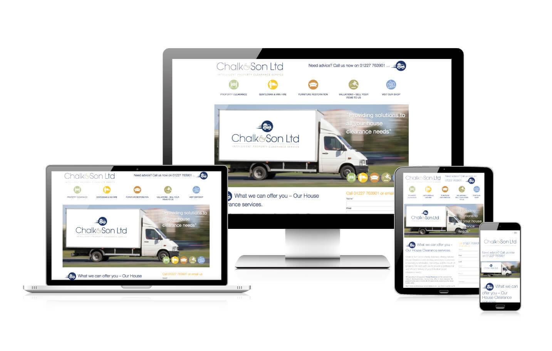 Responsive website design - Chalk & Son