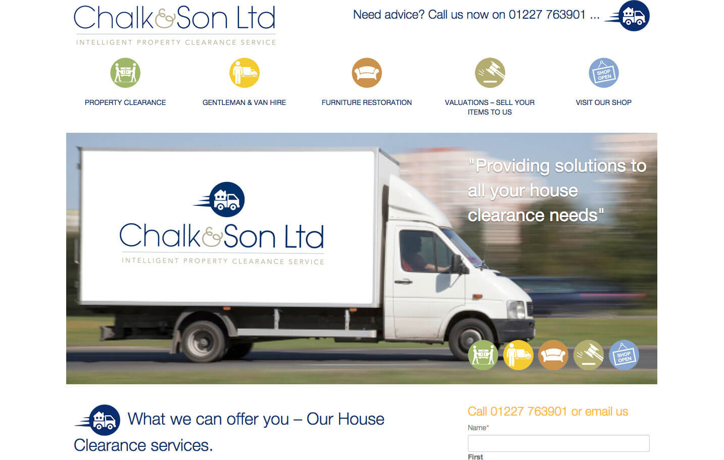 Chalk and Son - Home page