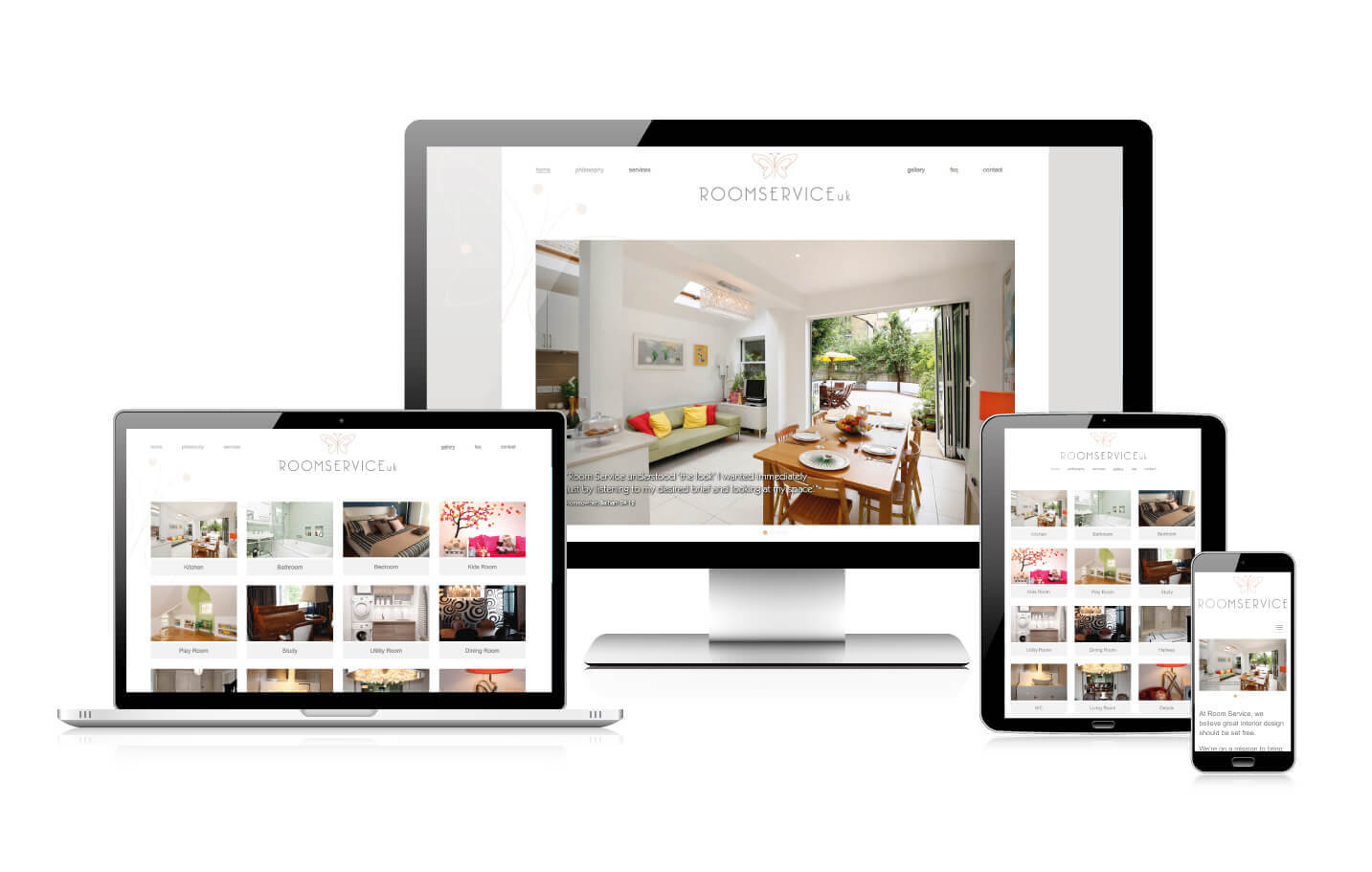 Responsive website design - Room Service UK