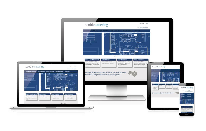 Responsive web design - Scobie Catering