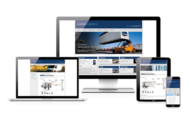 Responsive web design - Scobie Logistics