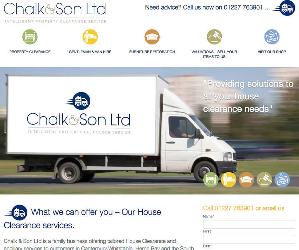 Web design portfolio - Man with a van