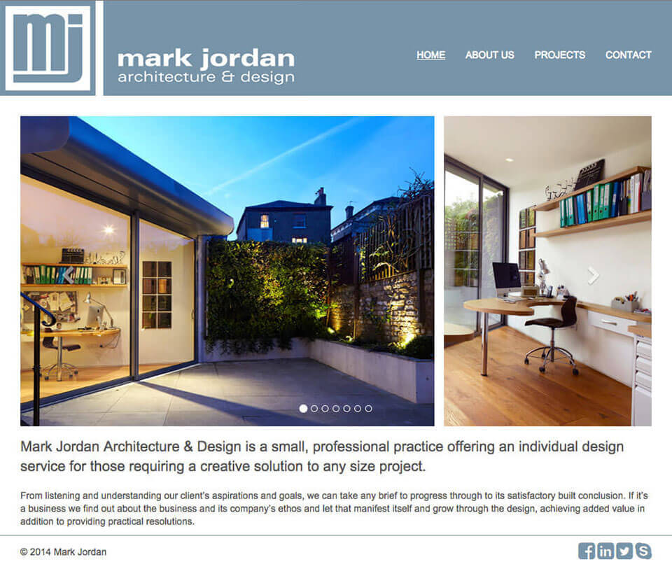 Web design portfolio - Architect Website Design