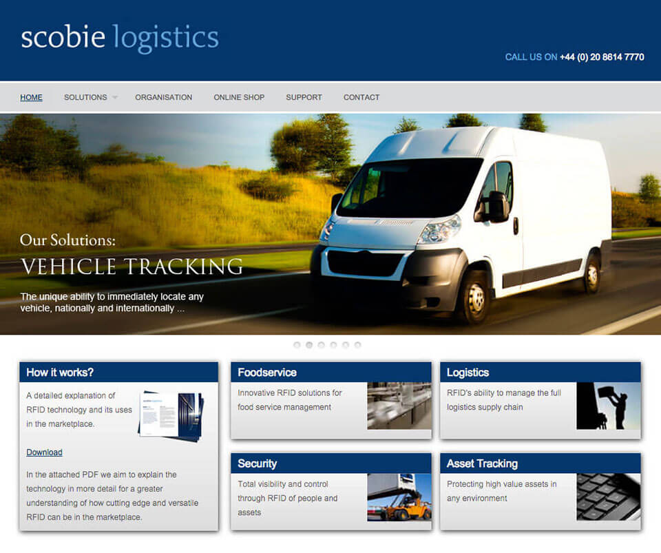 Web design portfolio - Logistics WordPress Theme