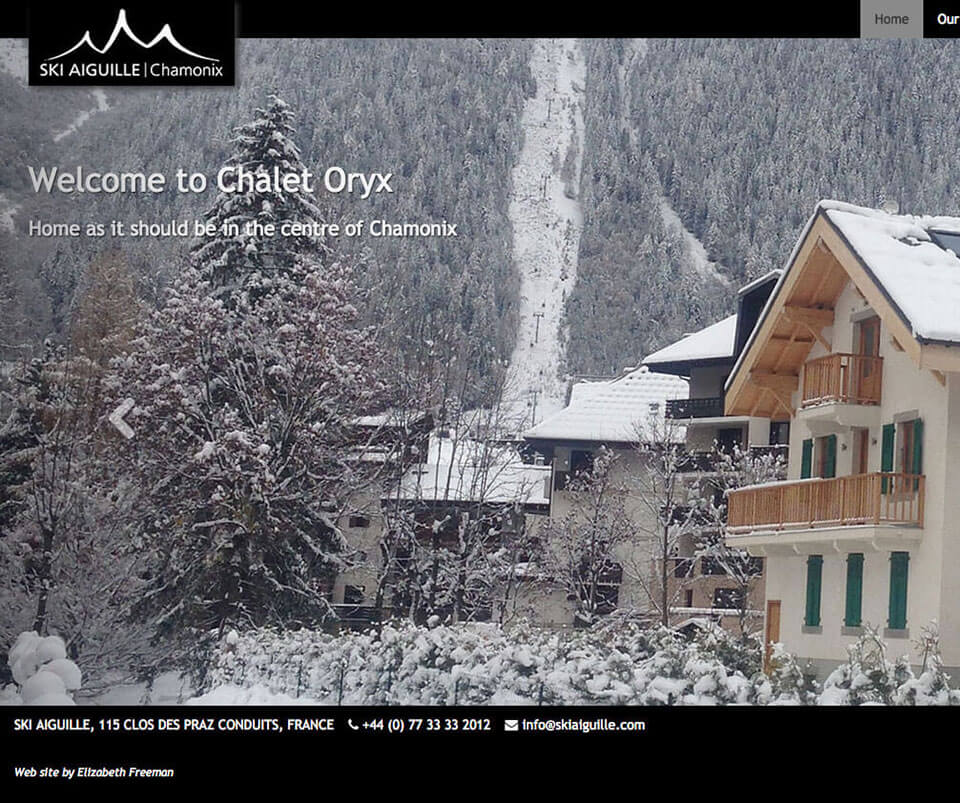 Web design portfolio - Ski chalet website