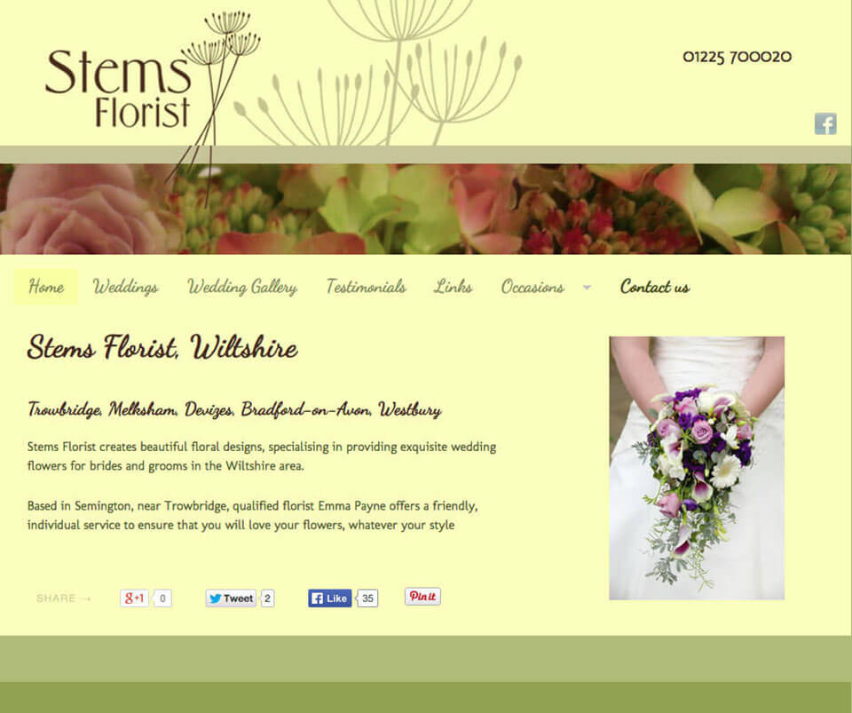 Web design portfolio - Florist WordPress Theme