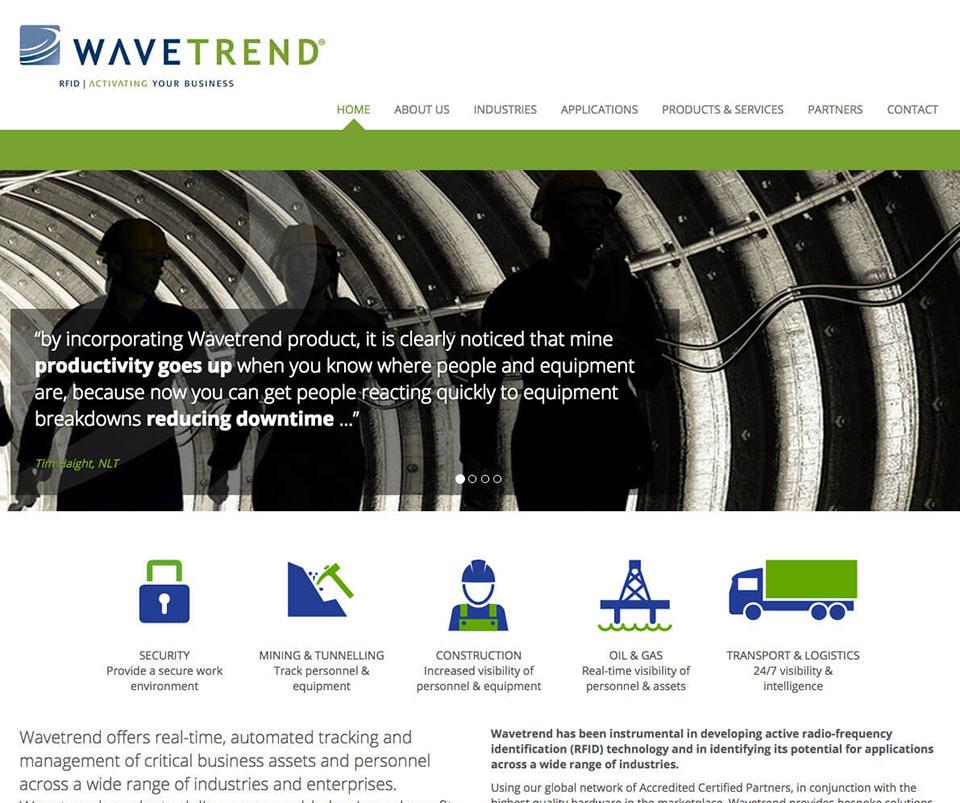 Web design portfolio - Technology company website